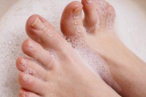 足の指、血液循環