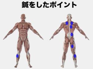 腰、お尻の痛む場合の刺鍼点